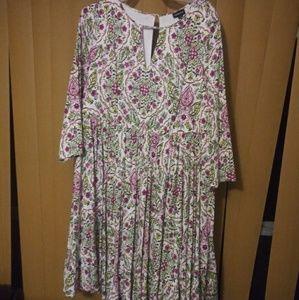 Mini length floral torrid longsleeve dress